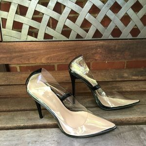 Azalea Wang PVC Clear Stiletto 7.5 (runs small)